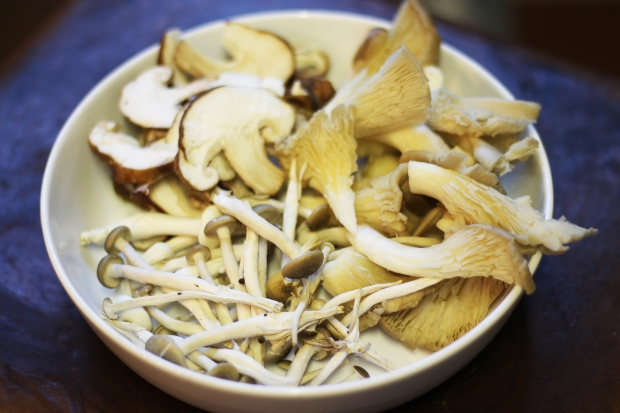 Wild Mushrooms sliced