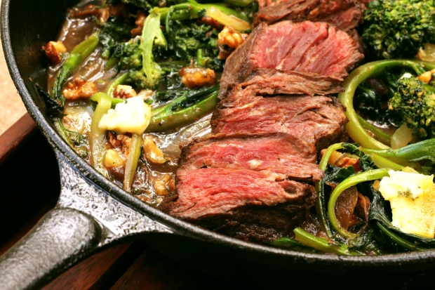 Steak skillet quarter moon
