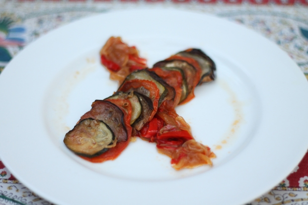 Ratatouille plated 30deg