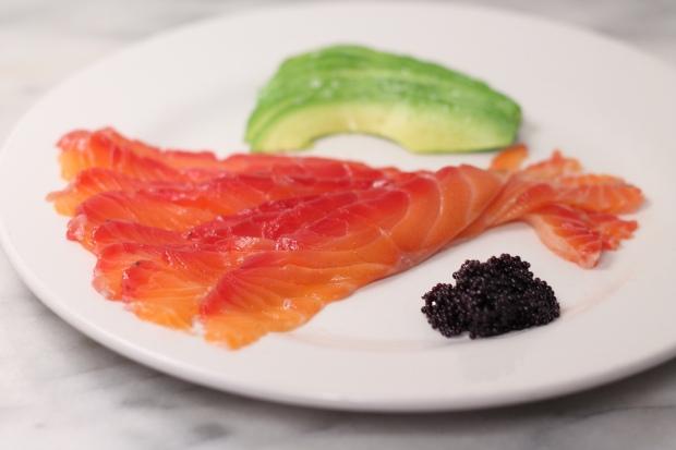 Salmon plated