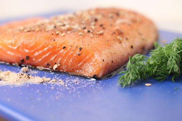 Salmon salt and sugar cure 2