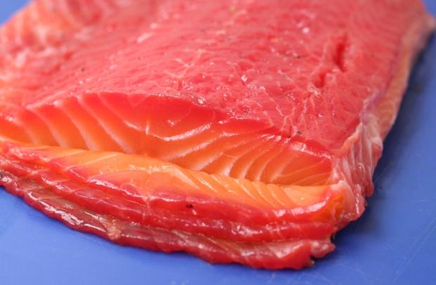 Salmon slices